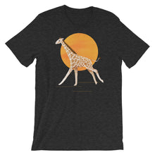 Load image into Gallery viewer, Giraffe and Sun | Short-Sleeve Unisex T-Shirt-t-shirts-Dark Grey Heather-S-Eggenland