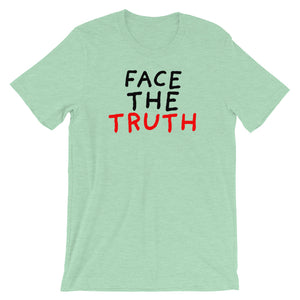 Face the Truth | Short-Sleeve Unisex T-Shirt-t-shirts-Heather Prism Mint-S-Eggenland