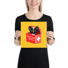 Load image into Gallery viewer, First Aid Kitten | Illustration | Yellow | Poster-posters-10×10-Eggenland