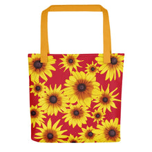 Load image into Gallery viewer, Blooming Flowers | Red | Tote Bag-tote bags-Yellow-Eggenland