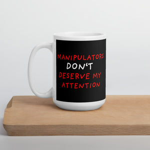 No Attention To Manipulators | Black | Mug-mugs-15oz-Eggenland