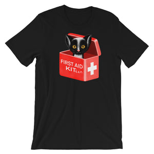 First Aid Kitten | Short-Sleeve Unisex T-Shirt-t-shirts-Black-S-Eggenland