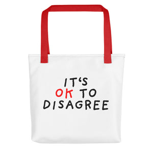 It's OK to Disagree | Tote Bag-tote bags-Red-Eggenland