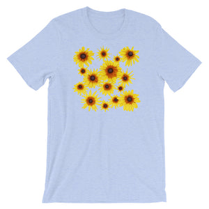 Blooming Flowers | Short-Sleeve Unisex T-Shirt-t-shirts-Heather Blue-S-Eggenland