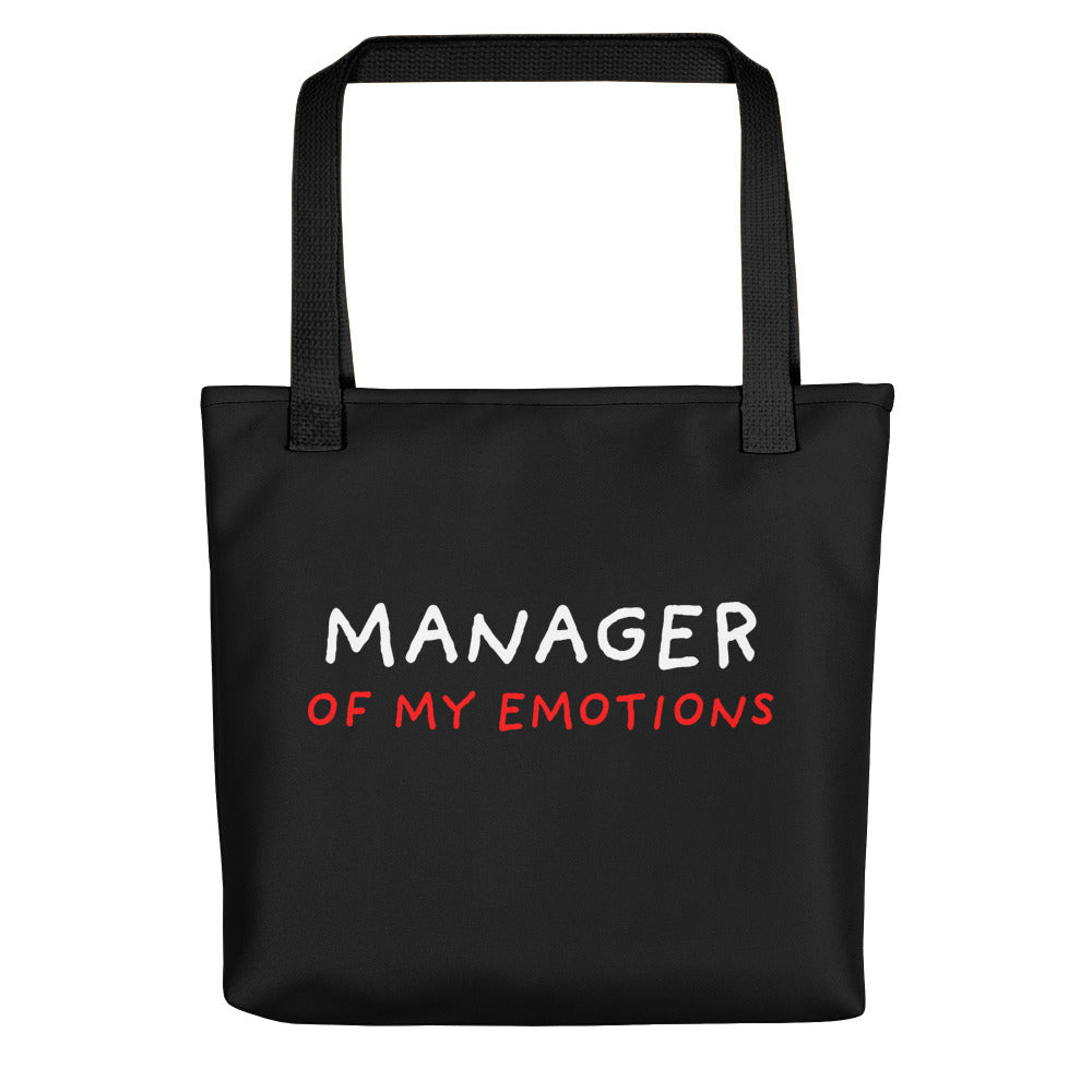 Manager of My Emotions | Black | Tote Bag-tote bags-Black-Eggenland