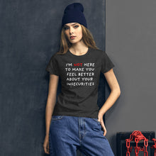 Load image into Gallery viewer, Insecurities | Women's Short-Sleeve T-Shirt-t-shirts-Eggenland