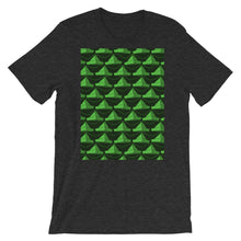 Load image into Gallery viewer, Paper Hats Pattern | Green | Short-Sleeve Unisex T-Shirt-t-shirts-Dark Grey Heather-S-Eggenland