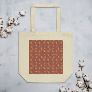Flying Birds Pattern | Red | Eco Tote Bag-tote bags-Oyster-Eggenland
