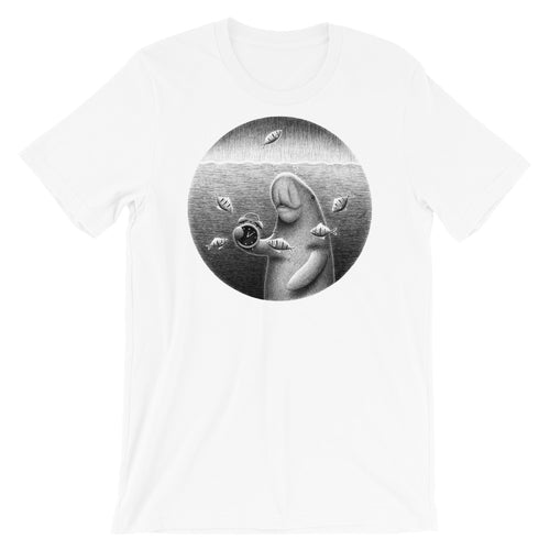 Dugongs Can Hold Their Breath For 6 minutes | Short-Sleeve Unisex T-Shirt-t-shirts-White-S-Eggenland
