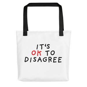It's OK to Disagree | Tote Bag-tote bags-Black-Eggenland