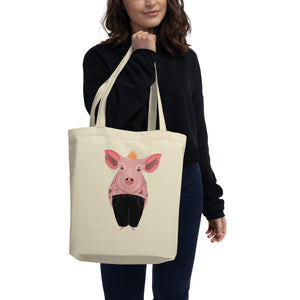 Cool Pig With Tattoos | Eco Tote Bag-tote bags-Eggenland