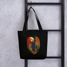 Load image into Gallery viewer, Deer Creature at Night | Black | Tote Bag-tote bags-Eggenland