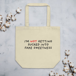 No Fake Sweetness | Eco Tote Bag-tote bags-Oyster-Eggenland