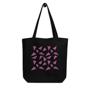 Paper Planes Pattern | Pink | Eco Tote Bag-tote bags-Eggenland