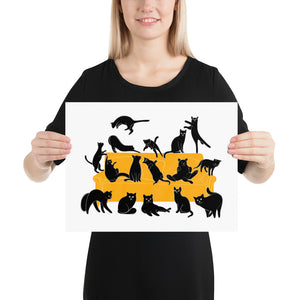 Black Cats Party | Illustration | Poster-posters-12×16-Eggenland