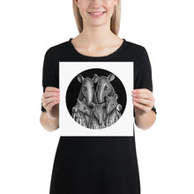 Load image into Gallery viewer, Tapir Family | Illustration | Poster-posters-10×10-Eggenland