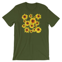 Load image into Gallery viewer, Blooming Flowers | Short-Sleeve Unisex T-Shirt-t-shirts-Olive-S-Eggenland
