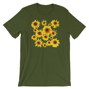 Blooming Flowers | Short-Sleeve Unisex T-Shirt-t-shirts-Olive-S-Eggenland