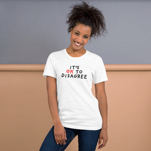 It's OK to Disagree | Short-Sleeve Unisex T-Shirt-t-shirts-Eggenland