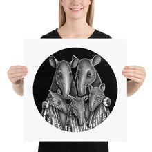 Load image into Gallery viewer, Tapir Family | Illustration | Poster-posters-18×18-Eggenland