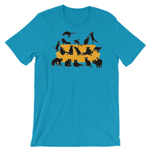 Black Cats Party | Short-Sleeve Unisex T-Shirt-t-shirts-Aqua-S-Eggenland