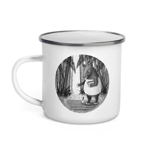 Tapirs Are Gardeners of the Forest | Enamel Mug-enamel mugs-Eggenland