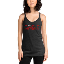 Load image into Gallery viewer, No Fake Sweetness | Women's Racerback Tank-tank tops-Eggenland