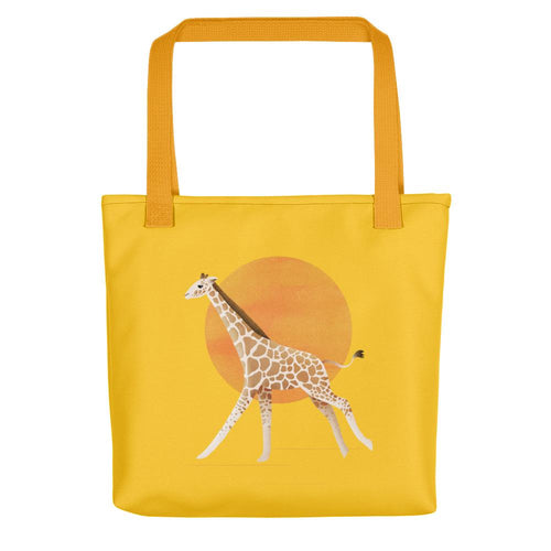 Giraffe and Sun | Yellow | Tote Bag-tote bags-Yellow-Eggenland