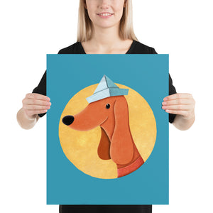 Dog with Newspaper Hat | Poster-posters-16×20-Eggenland