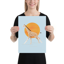 Load image into Gallery viewer, Giraffe and Sun | Blue | Poster-posters-12×16-Eggenland