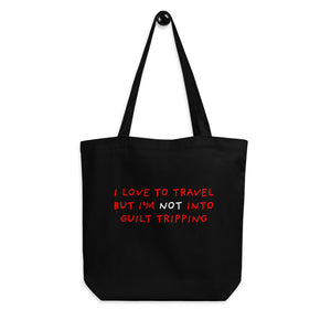 No Guilt Tripping | Eco Tote Bag-tote bags-Eggenland