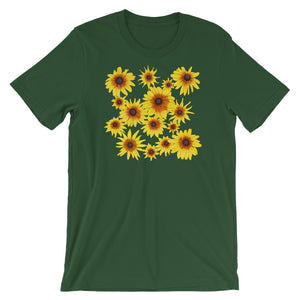 Blooming Flowers | Short-Sleeve Unisex T-Shirt-t-shirts-Forest-S-Eggenland