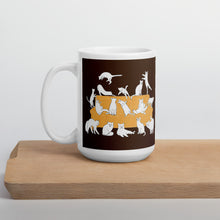 Load image into Gallery viewer, Cats Party | Brown | Mug-mugs-15oz-Eggenland
