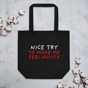 Nice Try | Eco Tote Bag-tote bags-Black-Eggenland