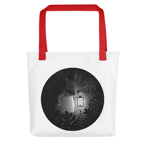 Tapirs Are Night Creatures | Tote Bag-tote bags-Red-Eggenland