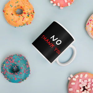 No Thank You | Black Mug-mugs-Eggenland
