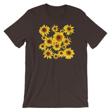 Load image into Gallery viewer, Blooming Flowers | Short-Sleeve Unisex T-Shirt-t-shirts-Brown-S-Eggenland