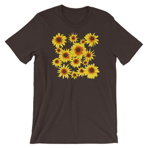 Blooming Flowers | Short-Sleeve Unisex T-Shirt-t-shirts-Brown-S-Eggenland