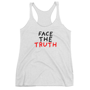 Face the Truth | Women's Racerback Tank-tank tops-Heather White-XS-Eggenland