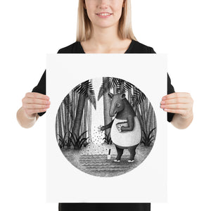 Tapirs Are Gardeners of Forest | Illustration | Poster-posters-16×20-Eggenland