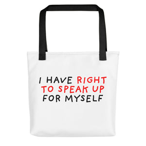 Right to Speak Up | Tote Bag-tote bags-Black-Eggenland
