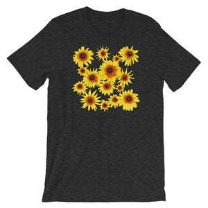 Blooming Flowers | Short-Sleeve Unisex T-Shirt-t-shirts-Dark Grey Heather-S-Eggenland