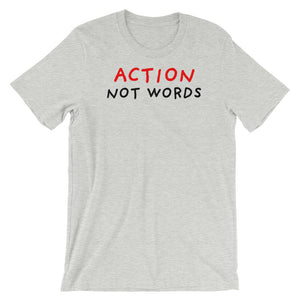 Action Not Words | Short-Sleeve Unisex T-Shirt-t-shirts-Athletic Heather-S-Eggenland