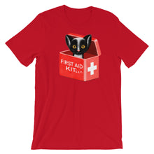 Load image into Gallery viewer, First Aid Kitten | Short-Sleeve Unisex T-Shirt-t-shirts-Red-S-Eggenland