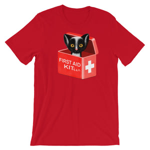 First Aid Kitten | Short-Sleeve Unisex T-Shirt-t-shirts-Red-S-Eggenland