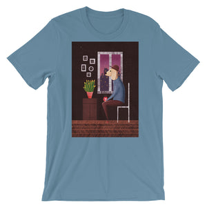 Charlie Waiting For Love | Short-Sleeve Unisex T-Shirt-t-shirts-Steel Blue-S-Eggenland