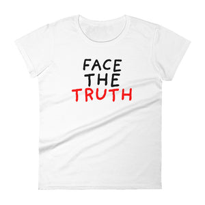 Face the Truth | Women's Short-Sleeve T-Shirt-tank tops-White-S-Eggenland