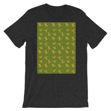 Load image into Gallery viewer, Flying Birds Pattern | Green | Short-Sleeve Unisex T-Shirt-t-shirts-Dark Grey Heather-S-Eggenland