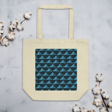 Load image into Gallery viewer, Newspaper Hats Pattern | Dark Blue | Eco Tote Bag-tote bags-Oyster-Eggenland