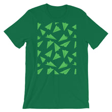 Load image into Gallery viewer, Paper Planes Pattern | Green | Short-Sleeve Unisex T-Shirt-t-shirts-Kelly-S-Eggenland